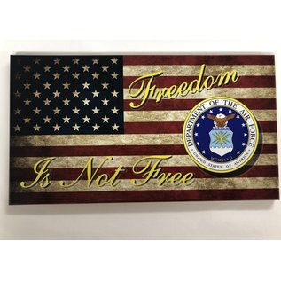"Morgan House Distressed Flag Wall Hanging - Air Force Seal - 14"" x 7 3/4"""