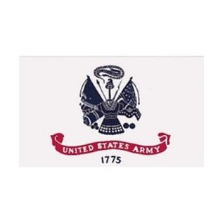Army Flag - 3x5 Nylon flag 2 sided embroidered