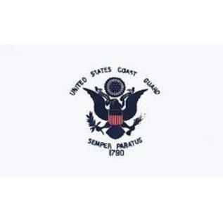 Coast Guard Flag - 3x5 Nylon Flag 2 sided embroidered