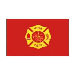 Fire Department 2 sided sewn 3'x5' flag