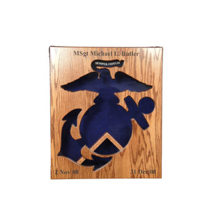 Morgan House Eagle,  Anchor and Globe Shadow Box