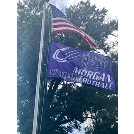 Central Cougars Footbal Flag - Single Sided Personalized