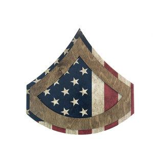 Morgan House ARMY Chevron Wall Hanging - Raised Stripes