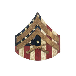 Morgan House MARINES Chevron Wall Hanging - Raised Stripes