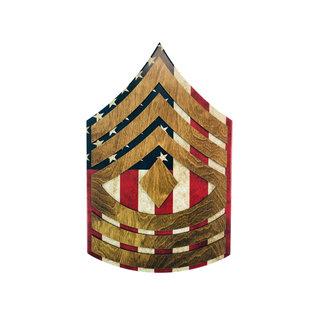 Morgan House Chevron Wall Hanging - Marine Raised Stripes