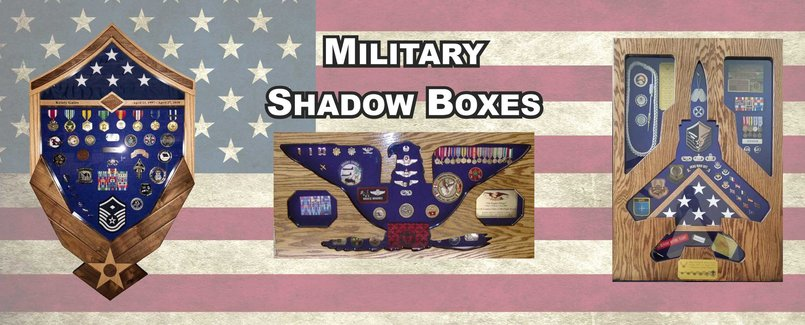 Shadow Boxes for Military Retirements