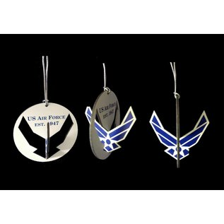 Morgan House Ornament - 3D Air Force Logo Full Color