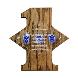 Morgan House 1st Sergeant Creed Plaque - Color