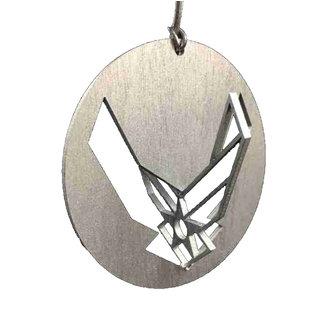 Morgan House Ornament - 3D Air Force Logo - Silver