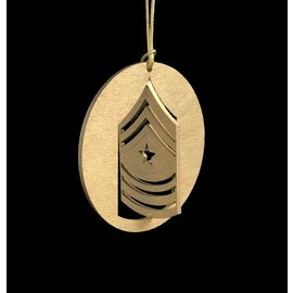 Morgan House Ornament - 3D USMC Chevron - Gold