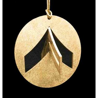 Morgan House Ornament - 3D Army Chevron - Gold