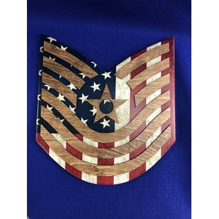 Morgan House AIR FORCE Chevron Wall Hanging - Raised Stripes