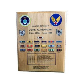"Military Service / Retirement Plaque - 12"" x 15"""