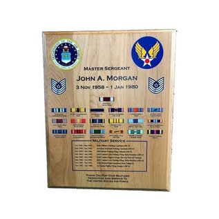 "Military Service / Retirement Plaque - 12"" x 15"""