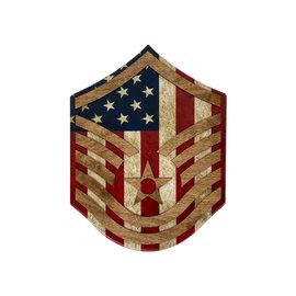Morgan House AIR FORCE Chevron Wall Hanging - Raised Stripes