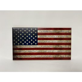 Morgan House Distressed Flag Wall Hanging - Oath of Enlistment