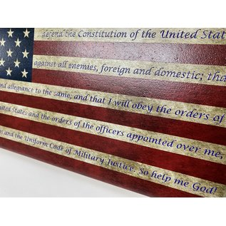 Morgan House Oath of Enlistment with Distressed Flag