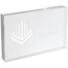 Clear Acrylic Rectangle No Bevel