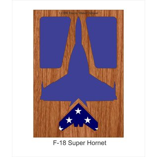 Morgan House F-18 Hornet Shadow Box