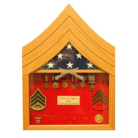 Morgan House US Marine Corps Sgt Shadow Box