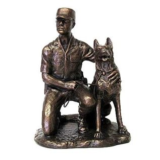 Terrance Patterson K-9 SP Statue with Dog