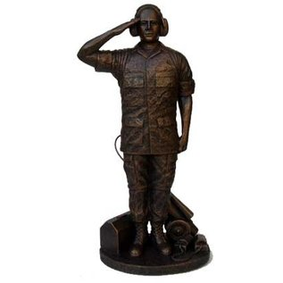 Morgan House Flight Maintainer Statue