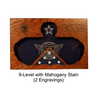 Morgan House Shadow Box in shape of Functional Badge