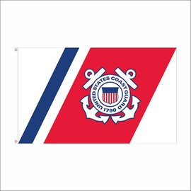 Coast Guard Flag - RWB - 3'x5'