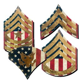 Morgan House ARMY Chevron Wall Hanging - Raised Stripes