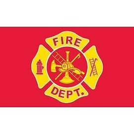 Fire Department printed 3'x5' flag