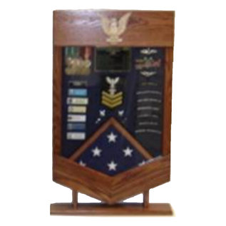 Morgan House US Navy / USCG  PO1 Shadow Box