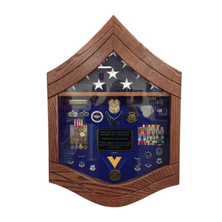 Morgan House Air Force SMSgt Shadow Box