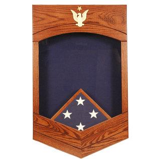 Morgan House US Navy /USCG SCPO Shadow Box