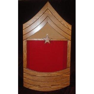 Morgan House US Marine Corps MGySgt or SgtMaj Shadow Box