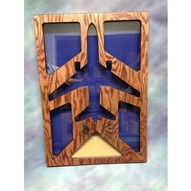 Morgan House Shadow Box in the shape of a KC-10..3x5 Flag area