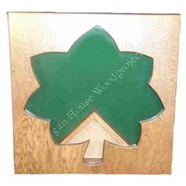 Morgan House Oak Leaf Shadow Box for O-4 or O-5 Officers