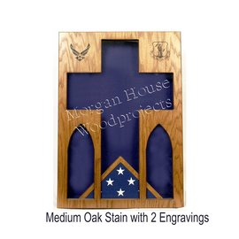 Morgan House Chaplain Shadow Box 3' x 5' Flag Area