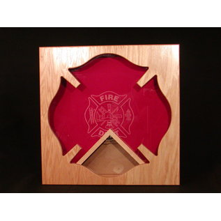 Morgan House Shadow Box in the shape of the Maltese Cross  with a 3x5 flag area