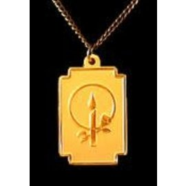 Gold Plated Pewter Spouse Medal Necklace