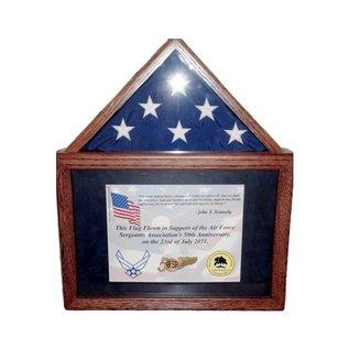 Morgan House Flag Case with Certificate Holder Oak ..Holds 3' x 5' Flag..