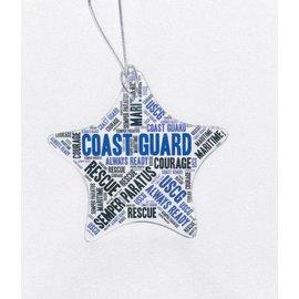 Coast Guard Glass Star Ornament