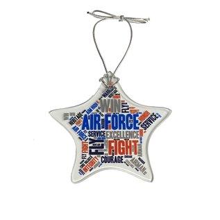 Air Force Glass Star Ornament