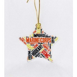 Marine Corps Glass Star Ornament