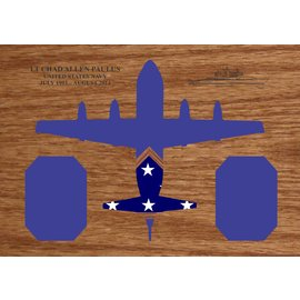Morgan House Shadow Box in the shape of a P-3 Orion..3x5 Flag area
