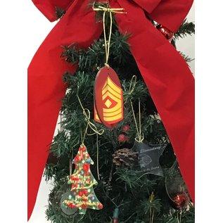Morgan House Ornament - 3D  Marines Chevron - Color