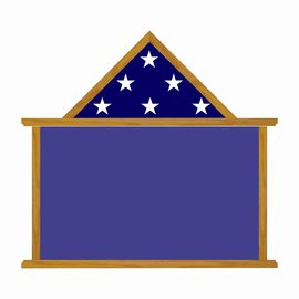 "Morgan House MSB-07 Shadow Box - 24"" wide x 14"" tall with flag on top.."