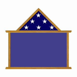 """Morgan House MSB-07 Shadow Box - 24"""" wide x 14"""" tall with flag on top.."""