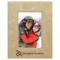 """4"""" x 6"""" Light Brown Leatherette Picture Frame..Includes Simple Engraving"""