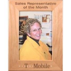5x7 PTF157 Alder Picture Frame - Square Corners..(includes simple engraving)