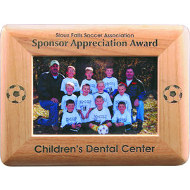 8x10  Alder Picture Frame..(includes simple engraving)